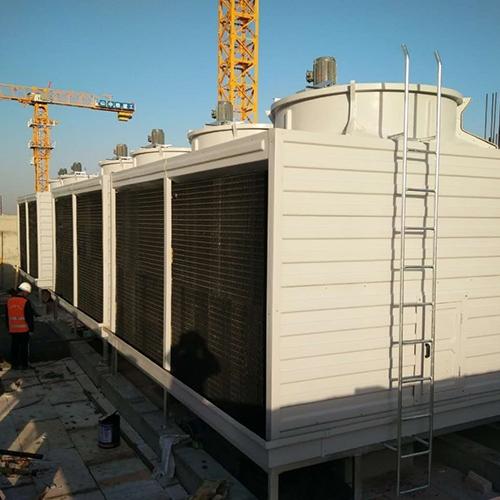 方形横流开式冷却塔安装